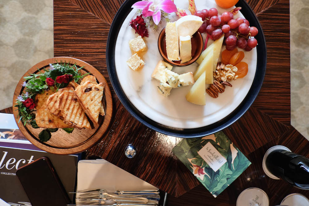a stay at the iconic Beverly Hills Hotel / cheese plate | The Stripe Blog