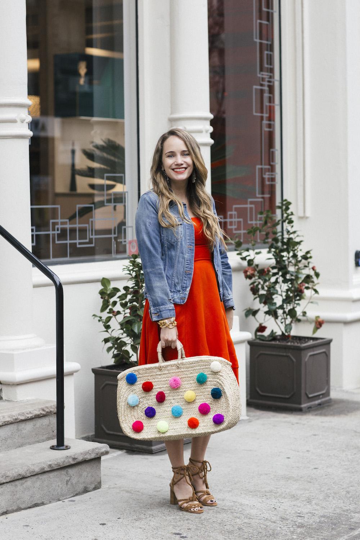 diy pom pom bag | grace atwood, the stripe
