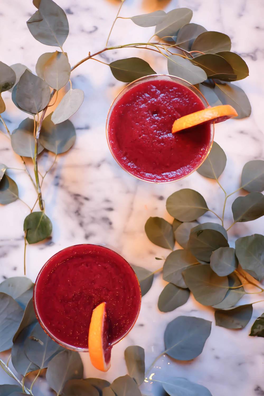 winter frosé recipe   lambrusco, blood orange, cantaloupe - the stripe blog