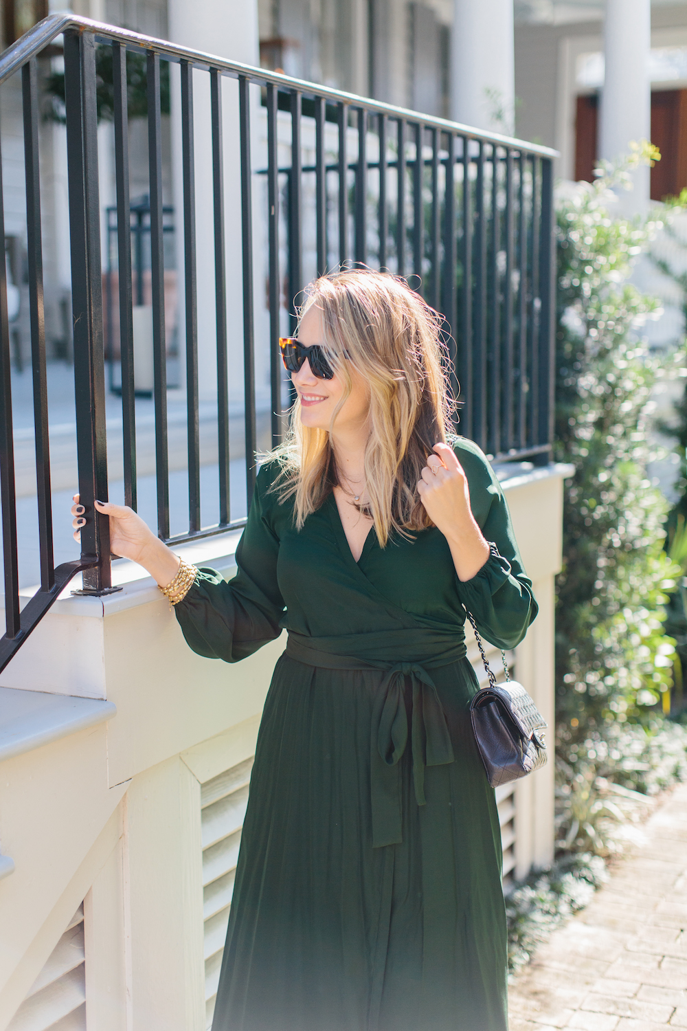 emerald maxi dress // rhode resort, at hampden clothing. grace atwood, the stripe | shot at 86 cannon in charleston