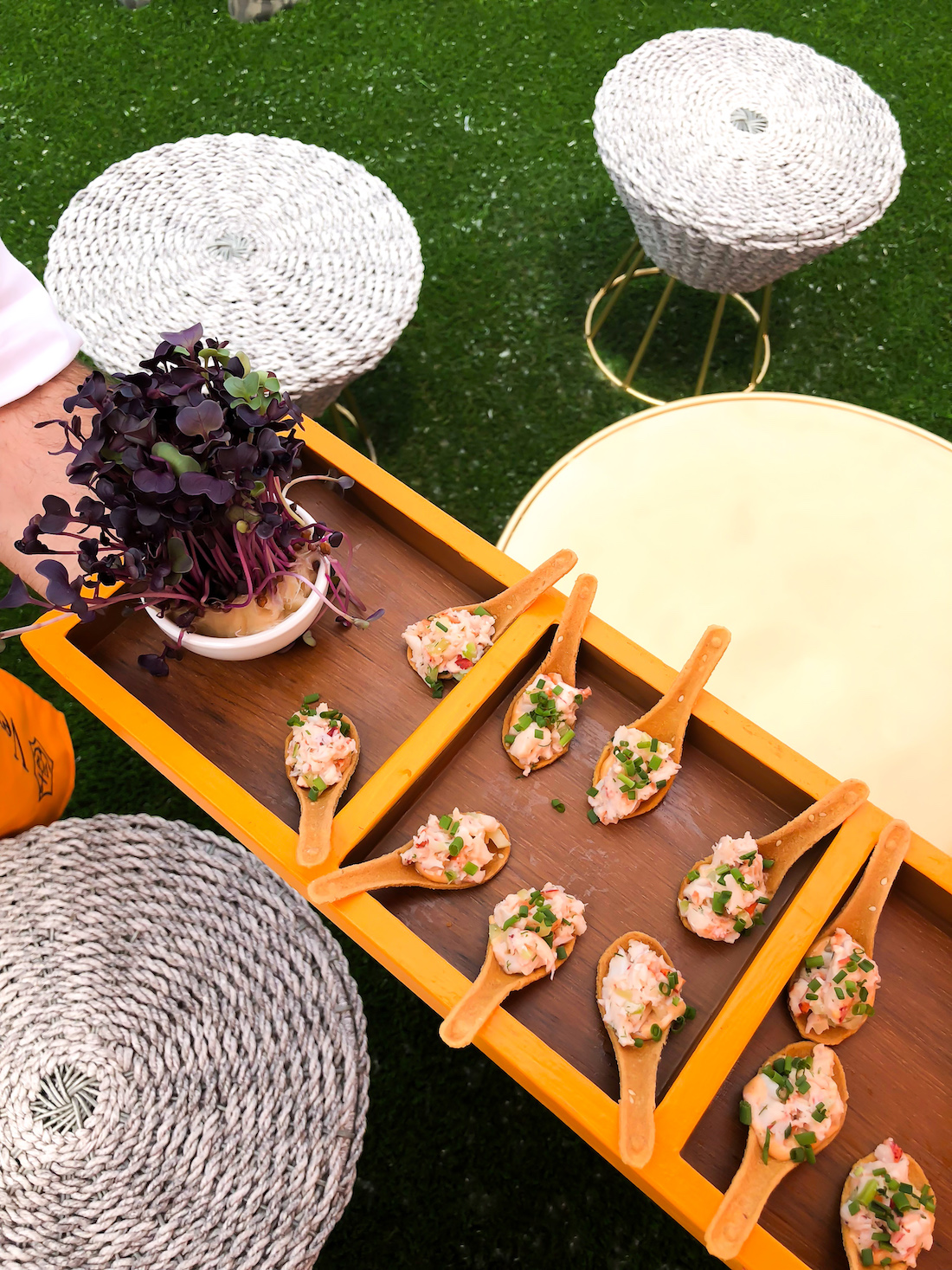 appetizers of the Veuve Clicquot Polo Classic 2018 - The Stripe