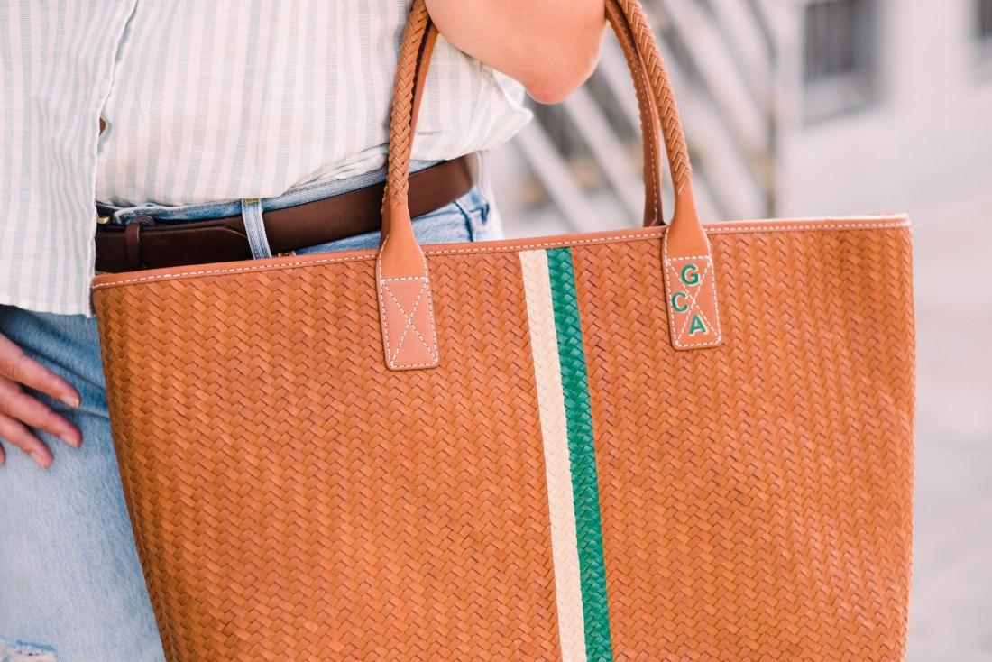J. McLaughlin Bag(custom monogram by Hathaway Hutton)