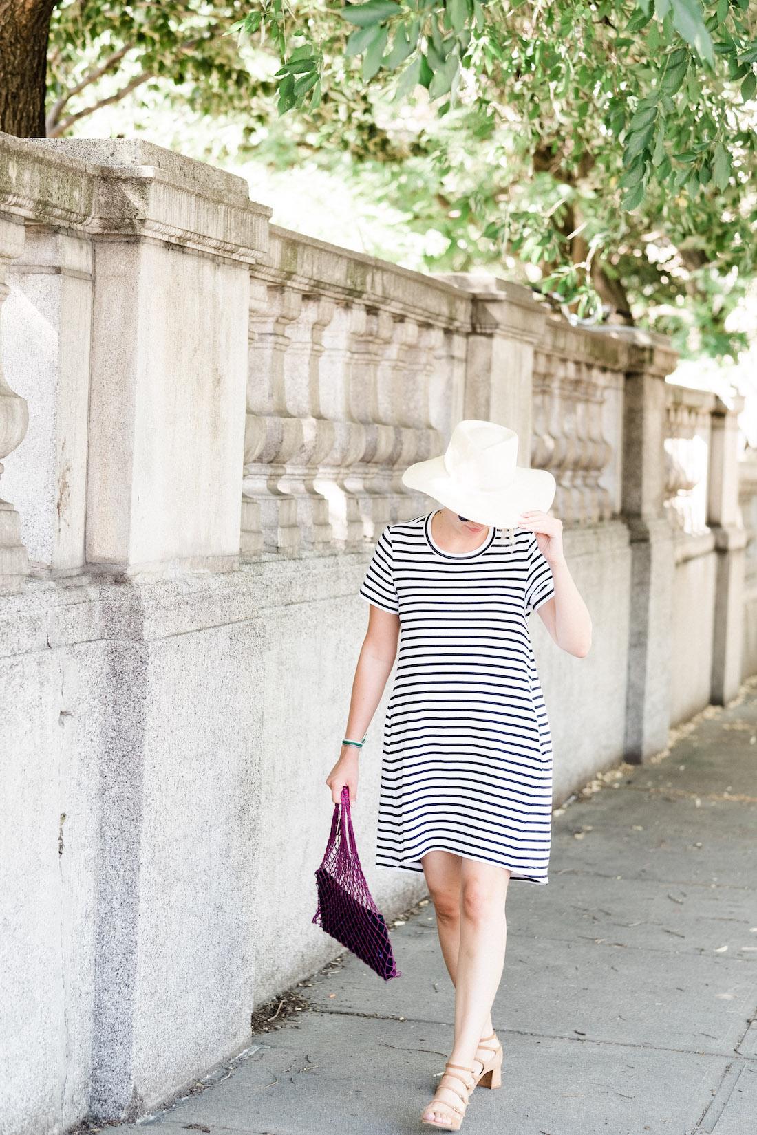 Sacai dixie cutout striped cotton-jersey mini dress // grace atwood, the stripe