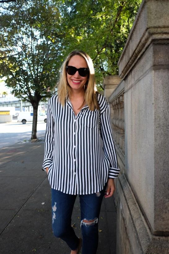 Striped Boyfriend Shirt TREASURE & BOND