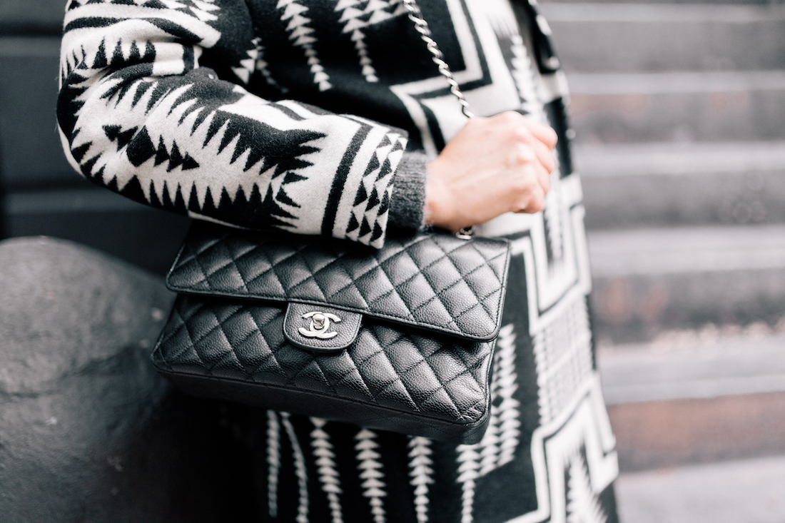 Pendleton Coat  // Chanel Purse