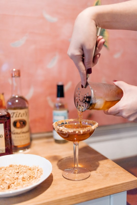 Christmas Martini Recipe - Step 4: Shake (or Stir!) Vigorously.