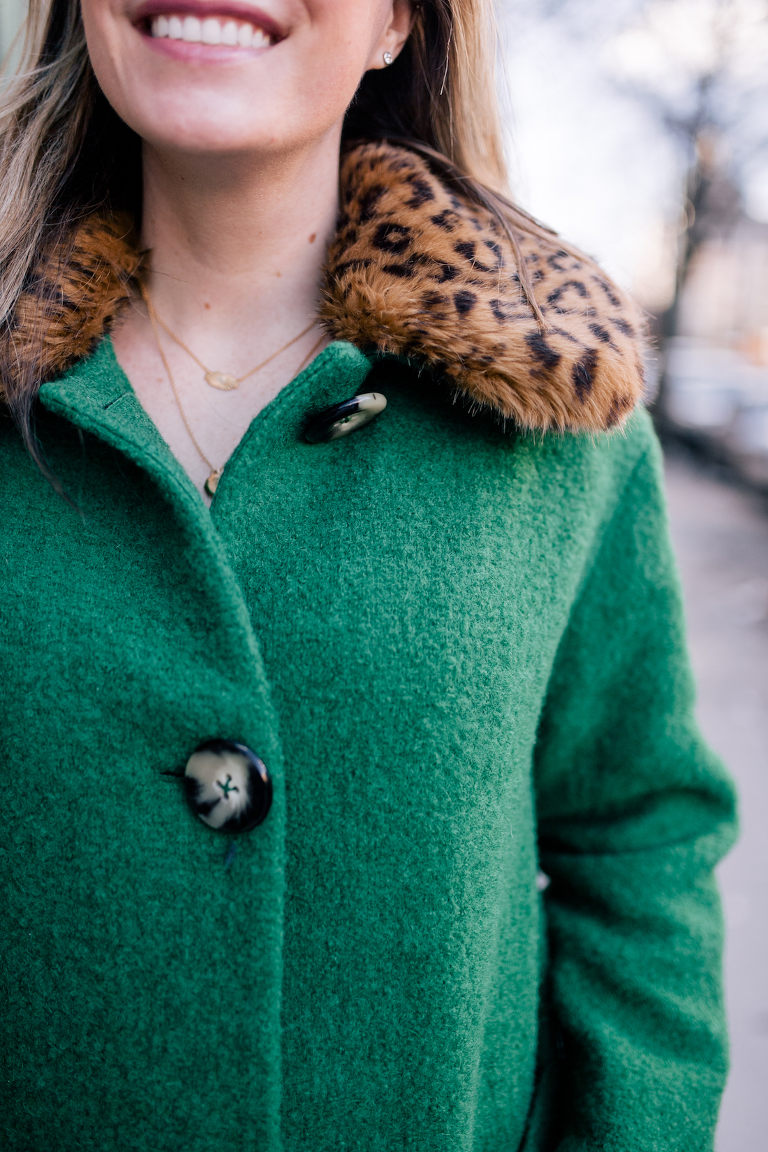 Outfit Details: L.K. Bennett Coat//  Estee LaLonde x Daisy Jewellery Necklaces