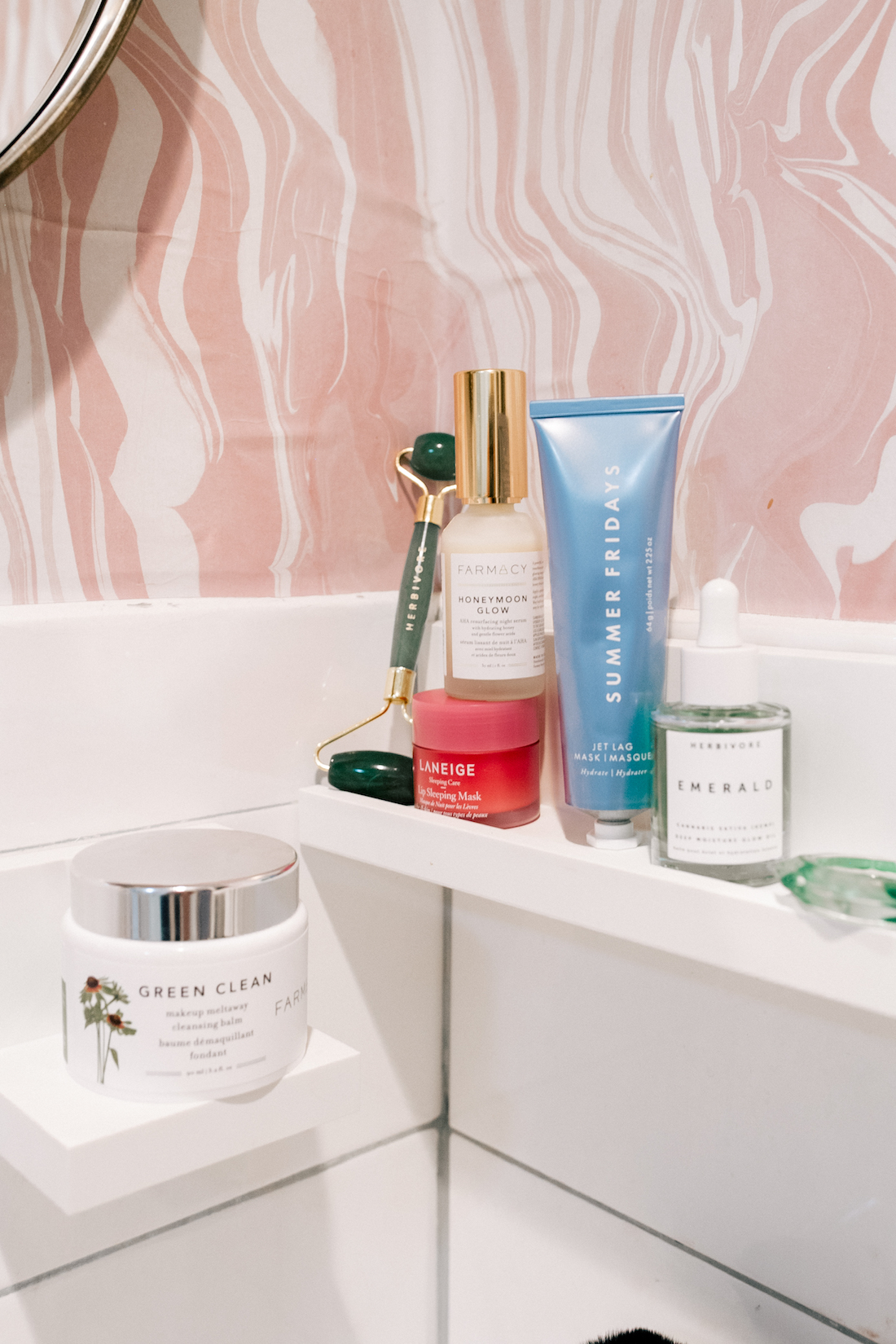 bedtime routine for glowing skin by the stripe