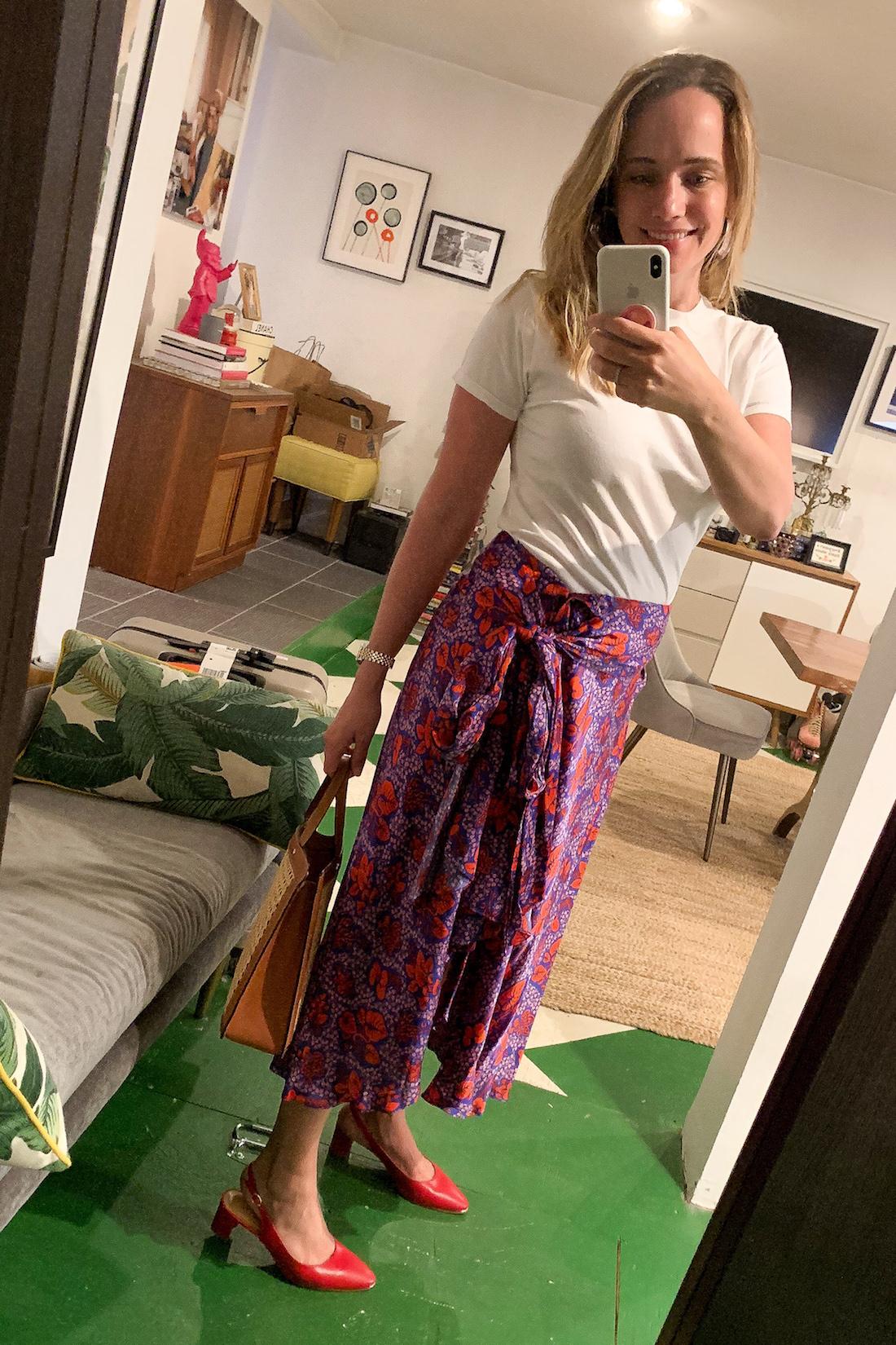 Hanes xKarla Tee // Rodebjer Skirt featured
