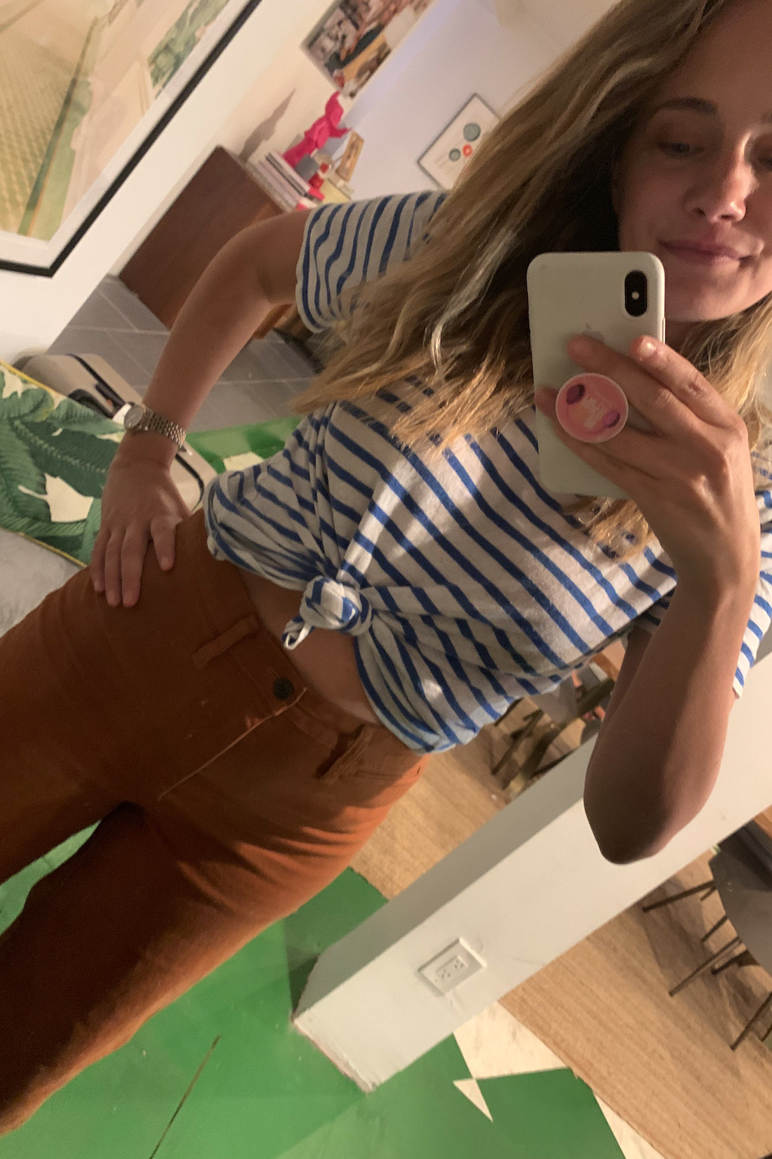 What I Actually Wore: 6/8 - 6/14 - striped t and madewell pants