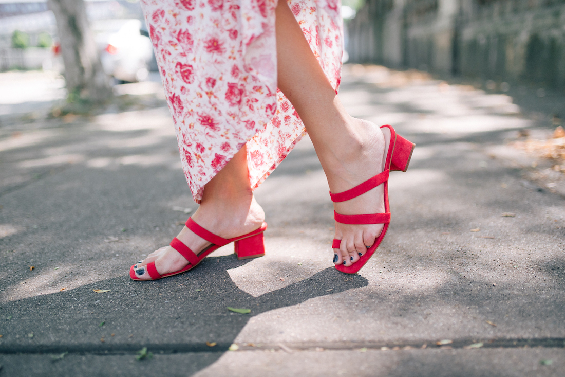 a few fun summer finds - red sandals