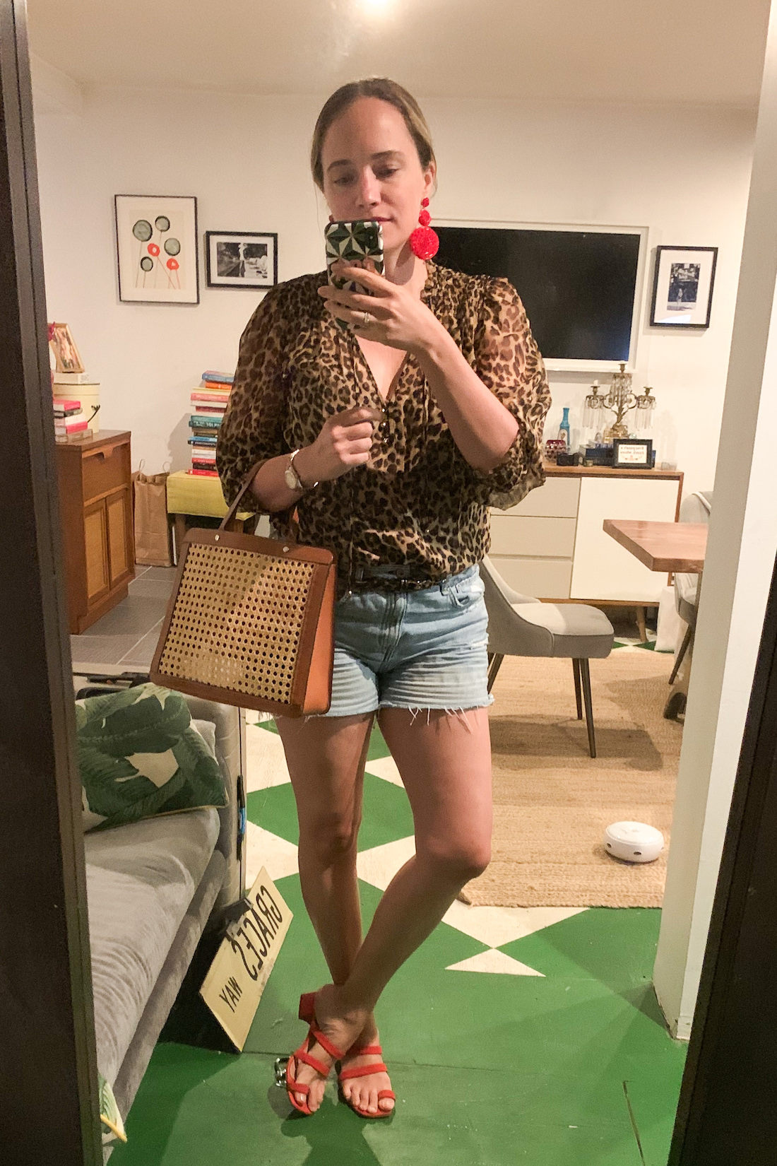 a leopard shirt is part of What i actually wore