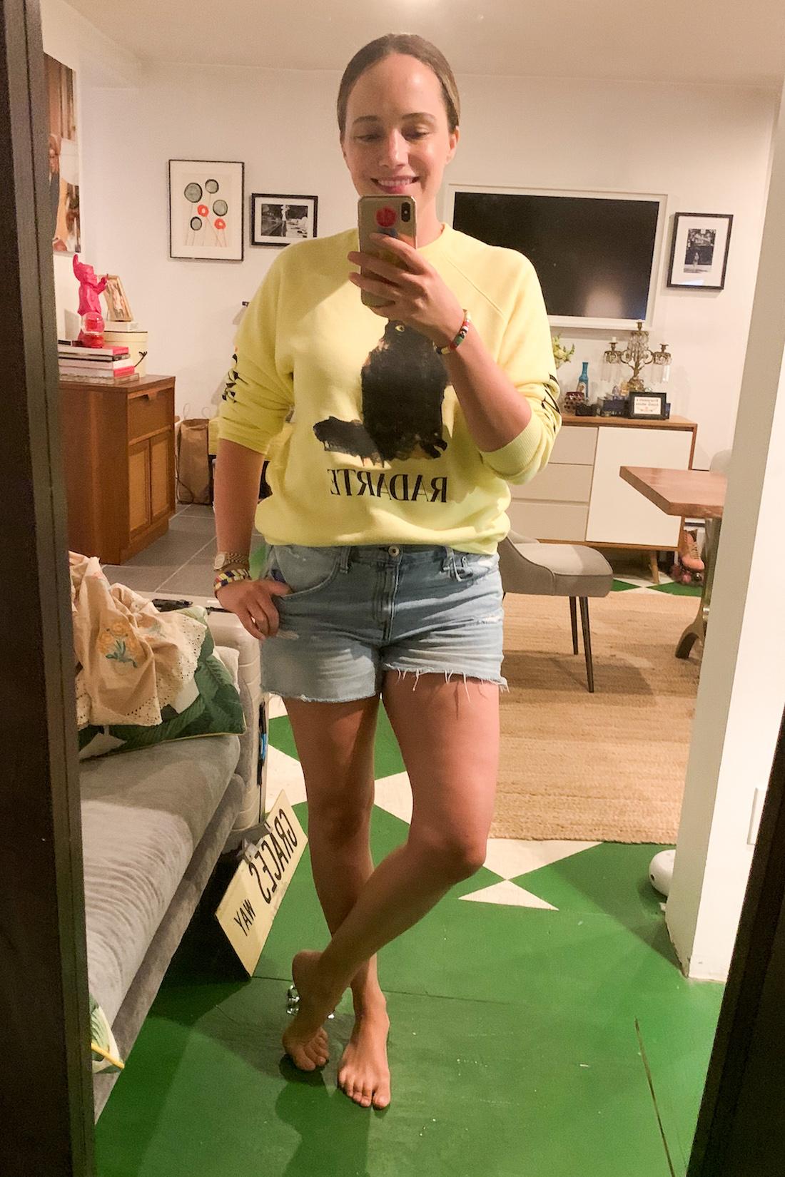Rodarte Sweatshirt // Rag & Bone Shorts