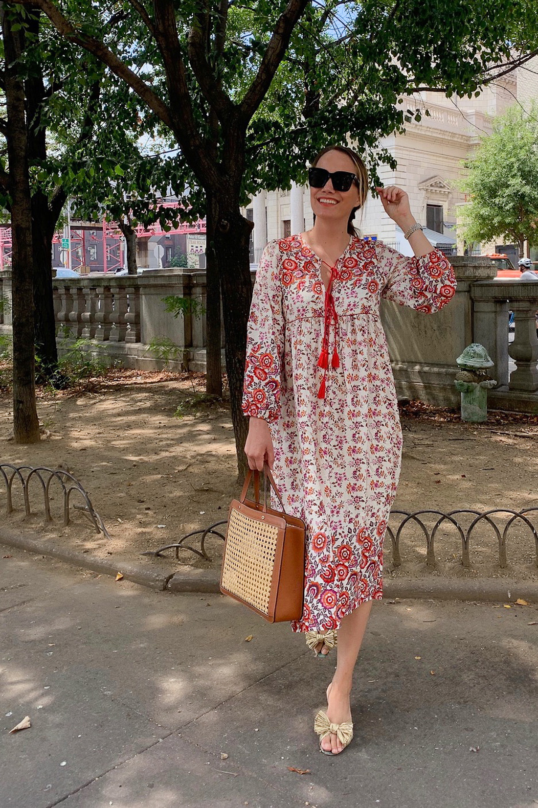 what grace actually wore includes this printed dress