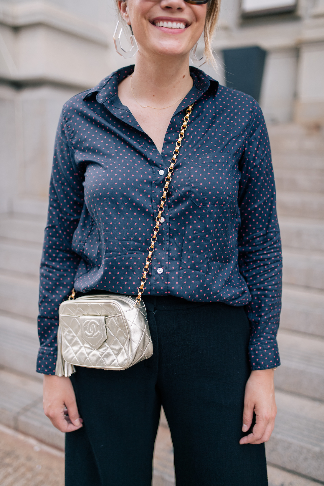 the best fitting shirt in polka dots