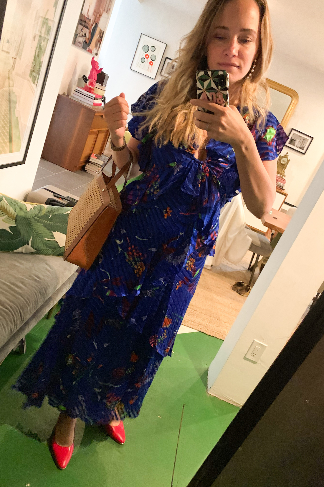a floor length dress is what grace actually wore