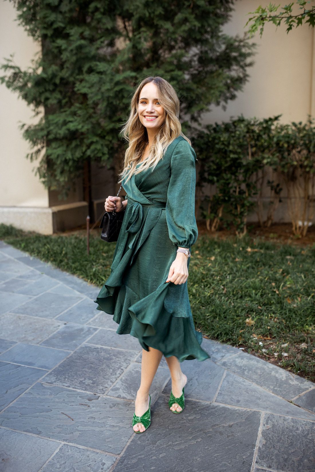 gal meets glam green dress