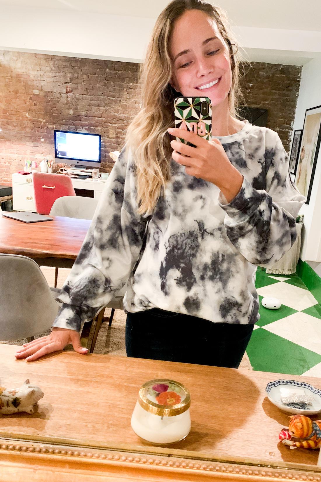 What I Wore: 10.26 - 11.1 amazon sweatshirt