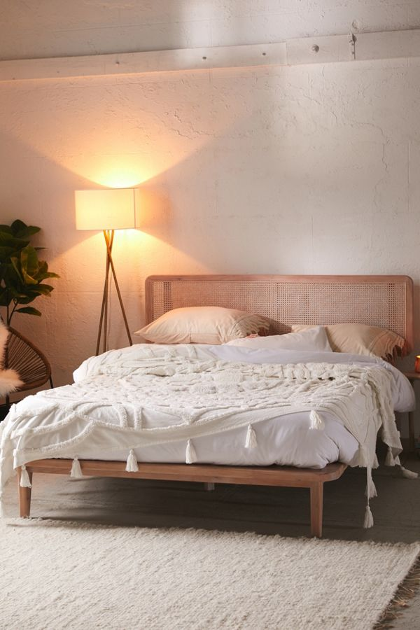 caned bed ideas