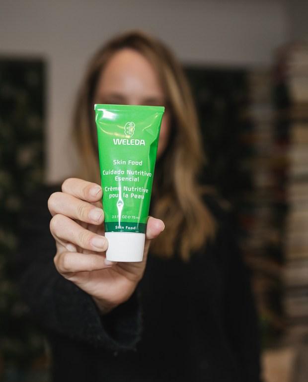 a Weleda skin product