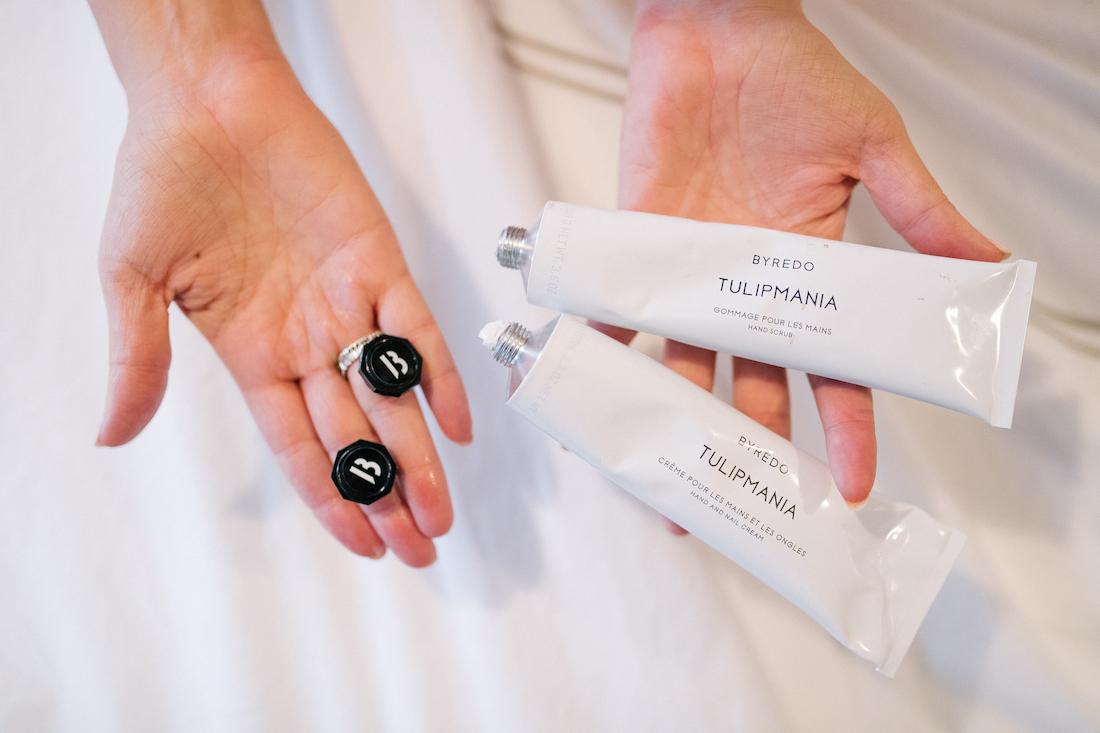 luxurious hand cream+ hand scrub!