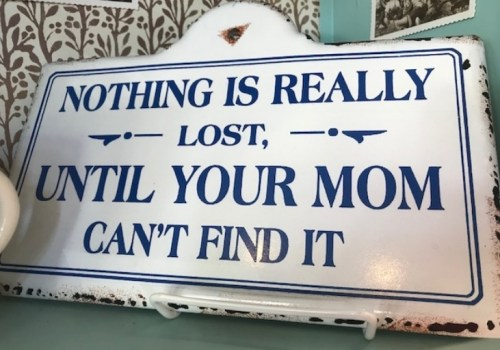 Nothing is Really Lost….Until Your Mom Can't Find It