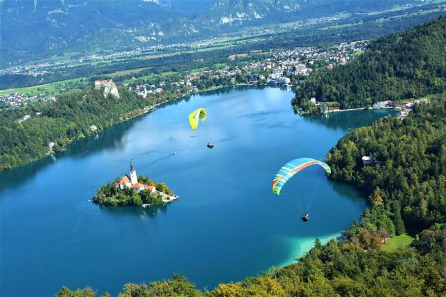 Skydiving in Bled, Slovenia