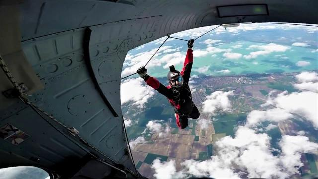Skydiving in Siofok, Hungary