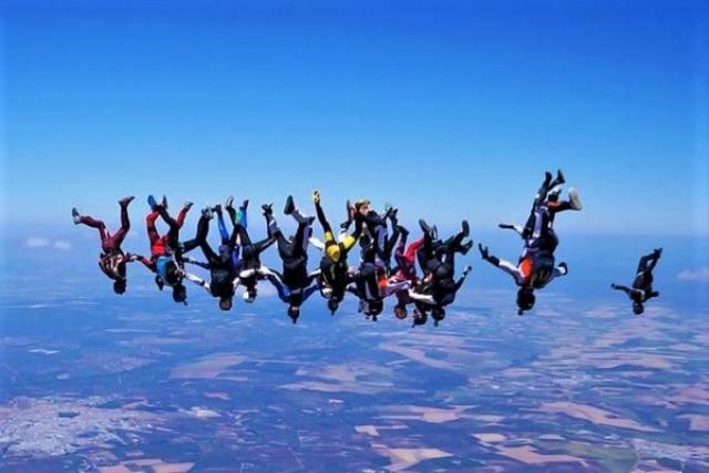Skydiving in Seville, Spain