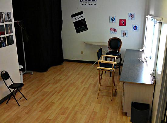 Phoenix video photography rental studio make-up room