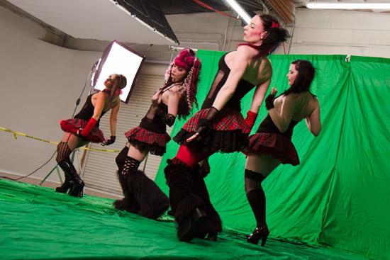 Dancers in Bella Lune Music Video