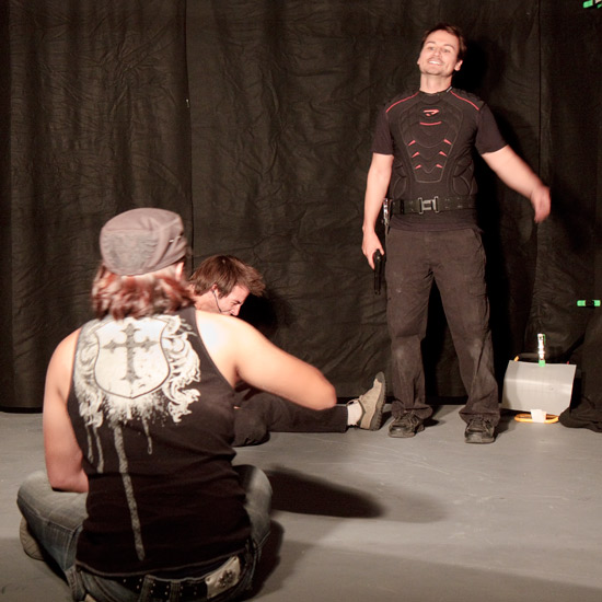 Video rental studio phoenix at the Studio shoot a scence from their movie Deadly motives