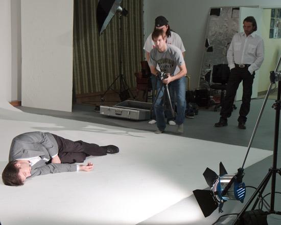 American Spirit shoots scence at Phoenix Video Rental Studio