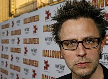 Writer/director James Gunn arrives at the premiere of Halloween in Hollywood