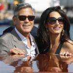 MR AND MRS GEORGE CLOONEY ACCIDENTALLY SINK VENICE