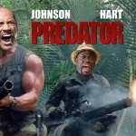 DWAYNE THE ROCK JOHNSON AND KEVIN HART SIGN ON FOR PREDATOR