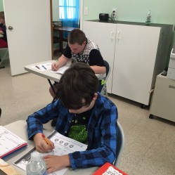 Students Working at The Study Center