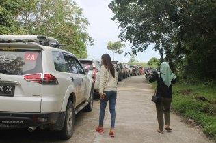 Waktu udah nyampe di Desa Teluk Meranti