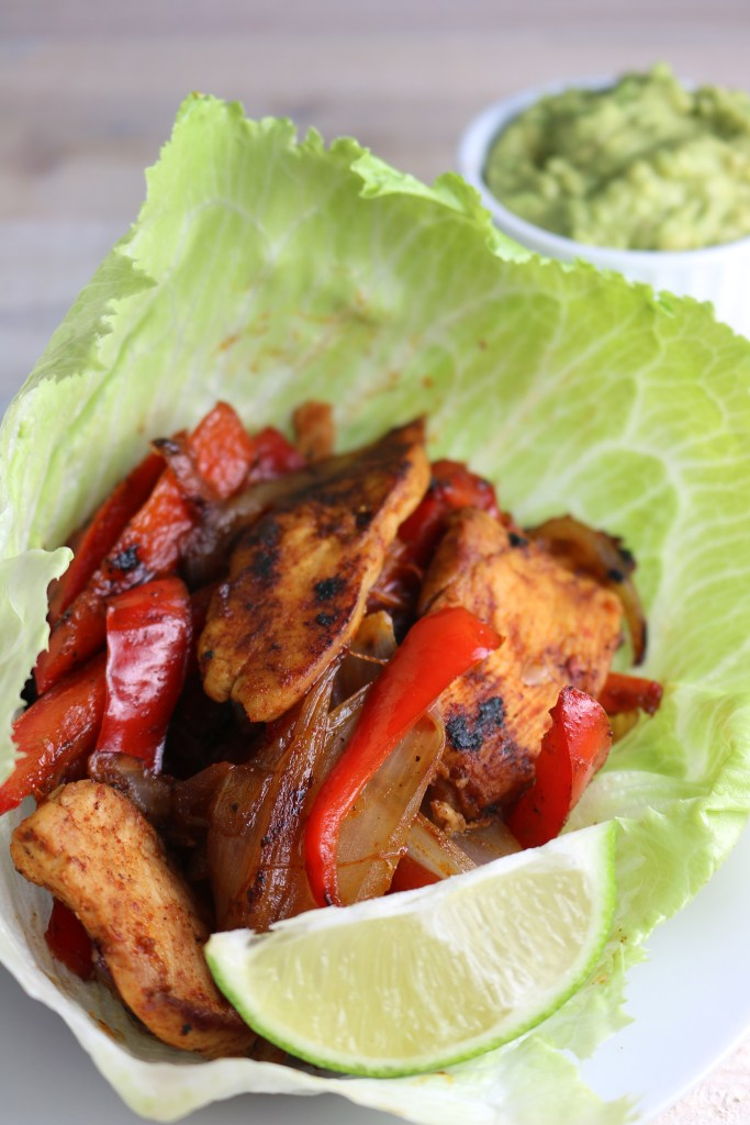 Chicken Fajitas in Lettuce