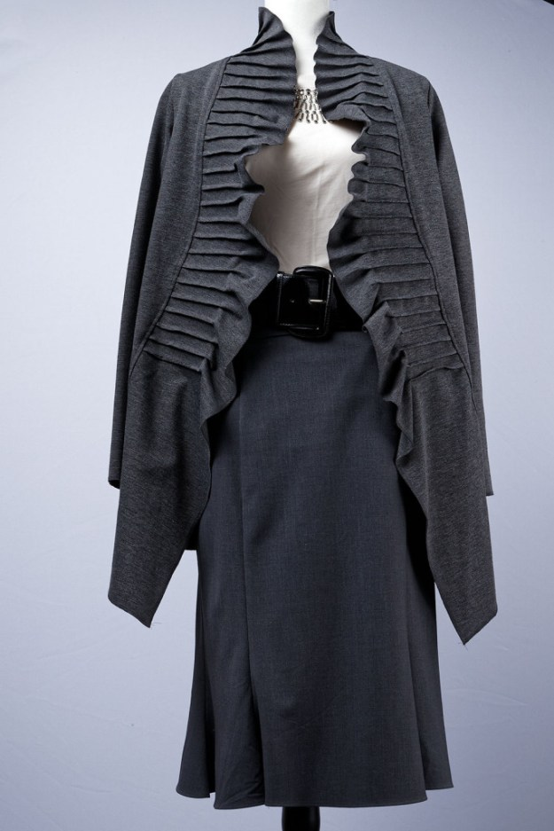 Gray Jacket & Skirt