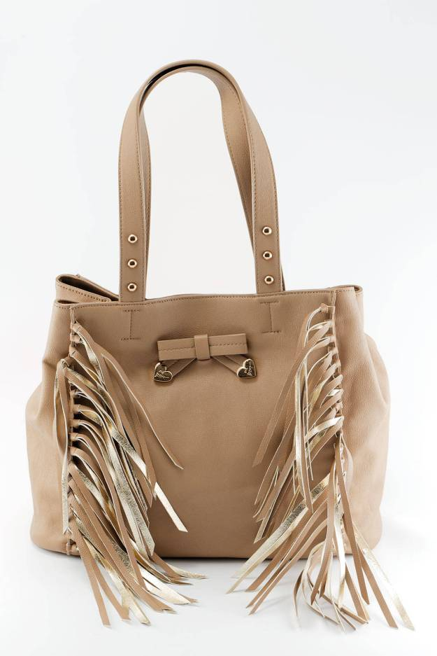 Betsey Johnson Handbag with Fringe