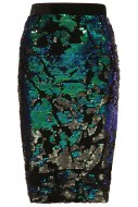 Velvet Sequin Pencil Skirt, $84, topshop.com