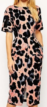 Wiggle Dress in Animal Print, $95.80, asos.com