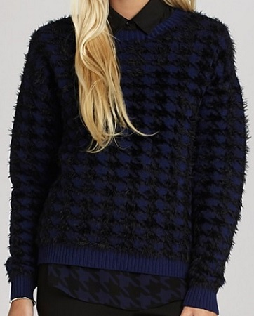 BCBGeneration Textured Houndstooth Sweater, $73.50, bloomingdales.com