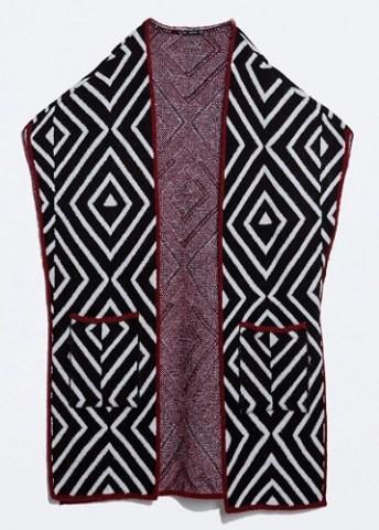 Argyll Poncho, $99.90, zara.com