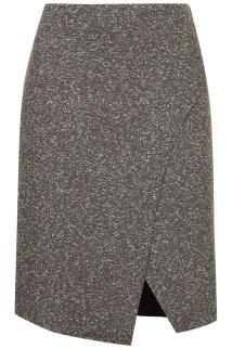 Bonded Neppy Wrap Skirt, $60, topshop.com