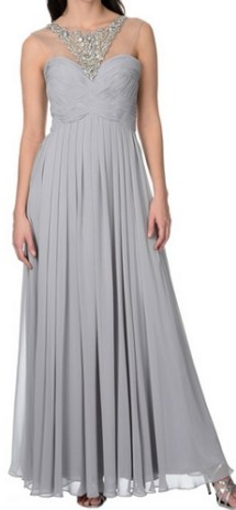 Decode 1.8 Women's Long Grey Embellished Gown, $144.99, overstock.com