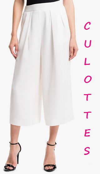 1.Slate Pleated Culottes, $98, nordstrom.com