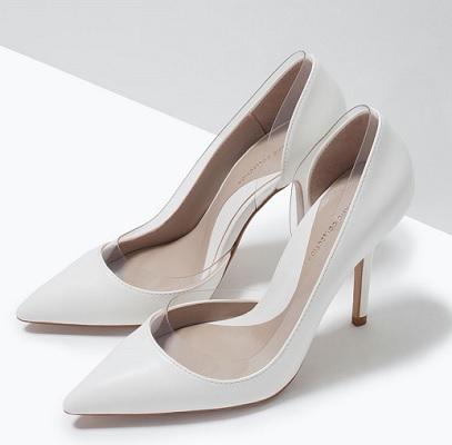 Vinyl Heel Court Shoe, $29.95, zara.com