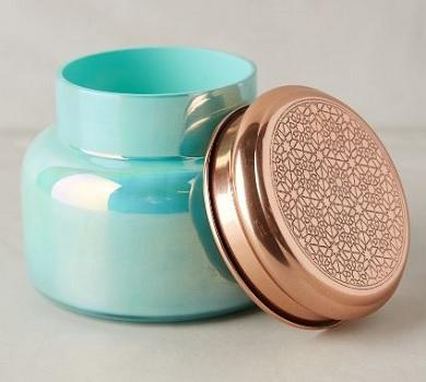 Capri Blue Iridescent Jar Candle, $28, anthropologie.com
